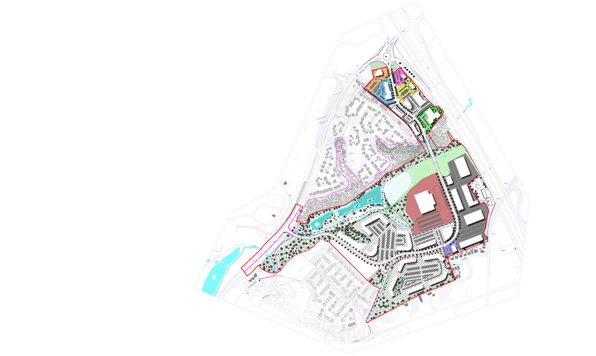 Junction 17, M6, Sandbach - Commercial property development masterplan
